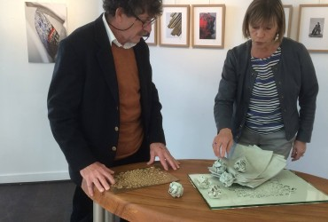 A la galerie Geneviève Marty
